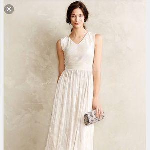 Anthropologie ivy+blu pleated éclat dress